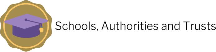Schools, authorities and trusts heading